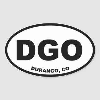 DGO Durango Colorado Oval Sticker