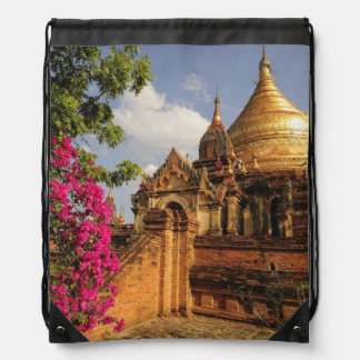 Dhamma Yazaka Pagoda at Bagan (Pagan), Myanmar Drawstring Bag