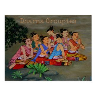 Dharma Groupies - post card