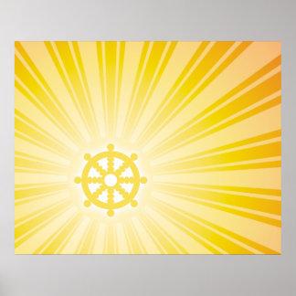 Dharma Wheel Energy Poster