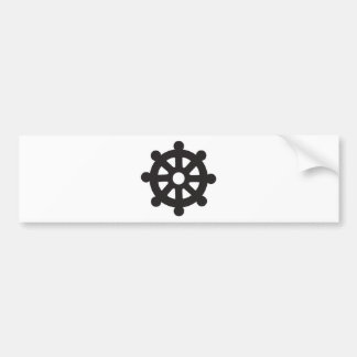 "Dharmacakra, Dharmachakra, ""Wheel of Dharma"" Bumper Sticker"