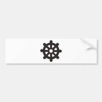 "Dharmacakra, Dharmachakra, ""Wheel of Dharma"" Car Bumper Sticker"