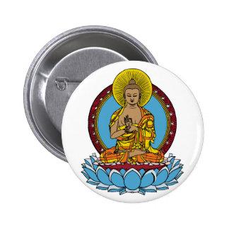 Dharmachakra Buddha 6 Cm Round Badge