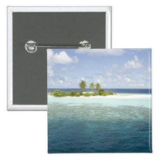 Dhiggiri Island, South Ari Atoll, The Maldives, 15 Cm Square Badge