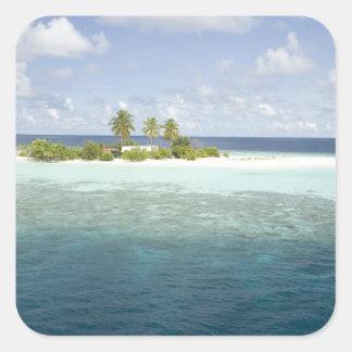 Dhiggiri Island, South Ari Atoll, The Maldives, Square Sticker