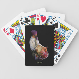 Dhol Drummer and Drum - Monogram Bicycle Playing Cards