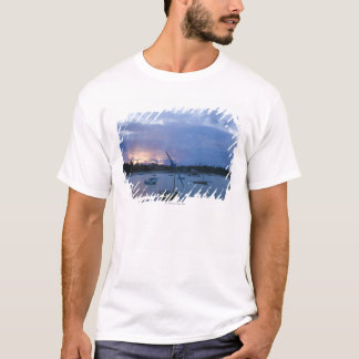 Dhows at sunset, Vilanculos Harbor, Bazaruto T-Shirt