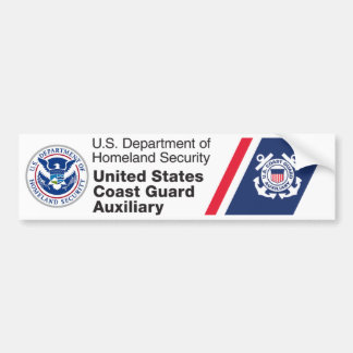 DHS - Coast Guard Auxiliary Bumper Sticker