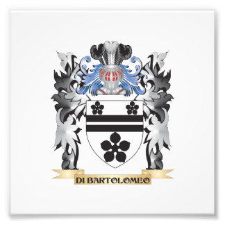 Di-Bartolomeo Coat of Arms - Family Crest Photo Print