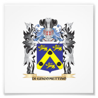 Di-Giacomettino Coat of Arms - Family Crest Photo Print