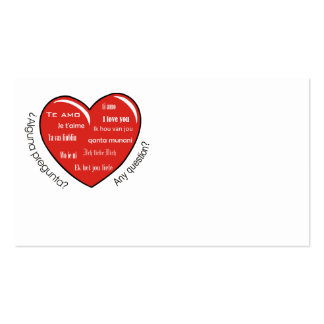 dia de las madres heart pack of standard business cards