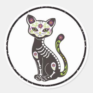 Dia De Los Muertes Day of the Dead Cat Stickers