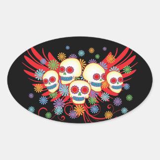 Dia de los Muertos 2 Oval Sticker