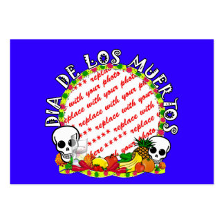 Dia De Los Muertos Blue  Photo Frame Pack Of Chubby Business Cards