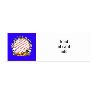 Dia De Los Muertos Blue  Photo Frame Pack Of Skinny Business Cards