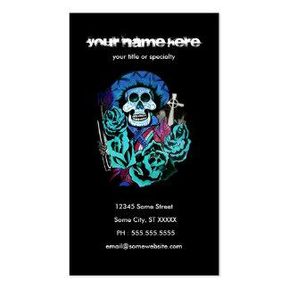dia de los muertos business card templates