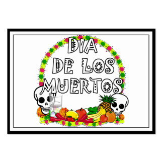 Dia De Los Muertos Business Card Template