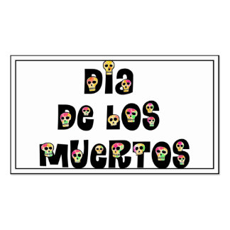 Dia De Los Muertos Calaveras Pack Of Standard Business Cards