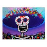 Dia de los Muertos Catrina by Prisarts Post Card