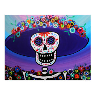 Dia de los Muertos Catrina by Prisarts Postcard