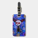 Dia de los Muertos Chihuahua Tag For Bags