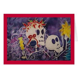 Dia de los Muertos Christmas Poinsettia Card