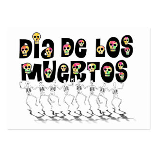 Dia De Los Muertos - Dancing Skeletons Business Card Template