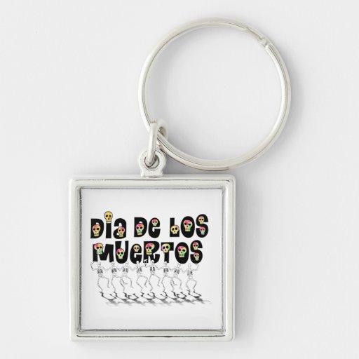 Dia De Los Muertos - Dancing Skeletons Key Chains