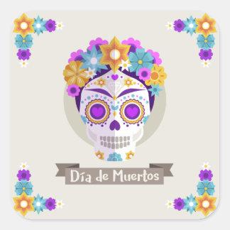 Dia de los Muertos Day of the Dead holiday Square Sticker