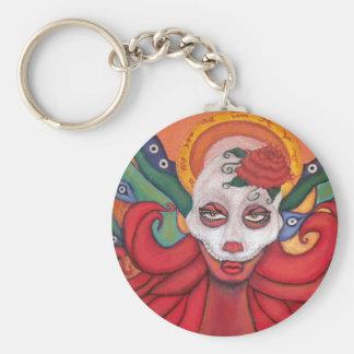 Dia de los Muertos/Day of the Dead Original Design Basic Round Button Key Ring
