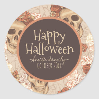 Dia De Los Muertos. Day of the Dead. Sugar Skulls. Classic Round Sticker