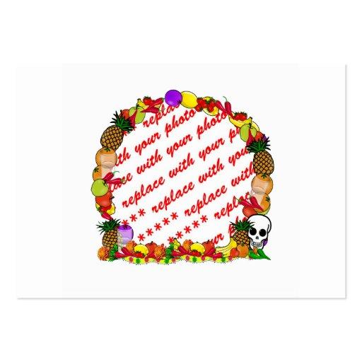 Dia De Los Muertos Fruity Photo Frame Business Card