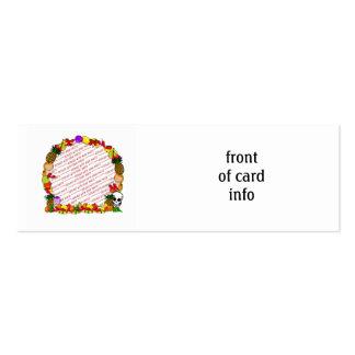 Dia De Los Muertos Fruity Photo Frame Pack Of Skinny Business Cards