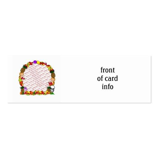 Dia De Los Muertos Fruity Photo Frame Business Cards
