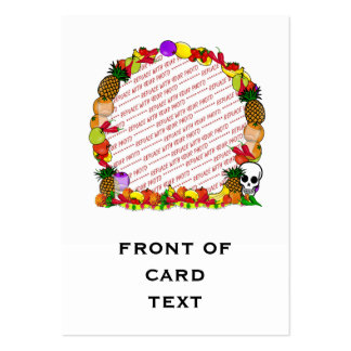 Dia De Los Muertos Fruity Photo Frame Large Business Cards (Pack Of 100)