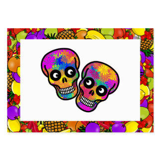 Dia De Los Muertos - Happy Couple W Fruit Business Card Templates