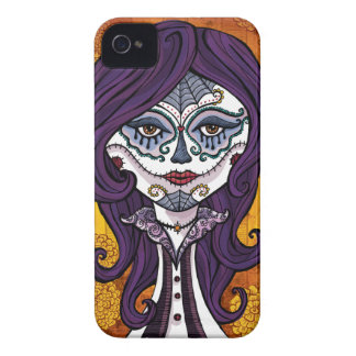 Dia de los Muertos iphone4 case-orange iPhone 4 Cover