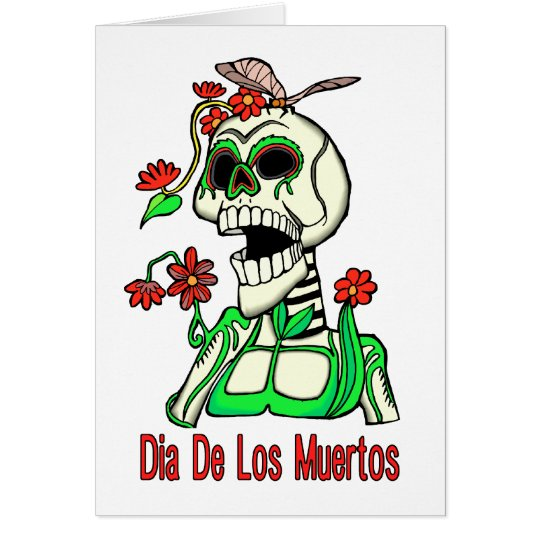 Dia De Los Muertos Laughing Skeleton Card