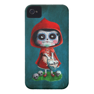 Dia de los Muertos Little Red Riding Hood iPhone 4 Case