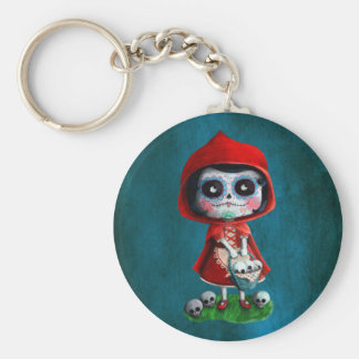 Dia de los Muertos Little Red Riding Hood Key Chain