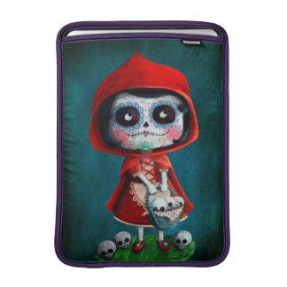 Dia de los Muertos Little Red Riding Hood MacBook Sleeve