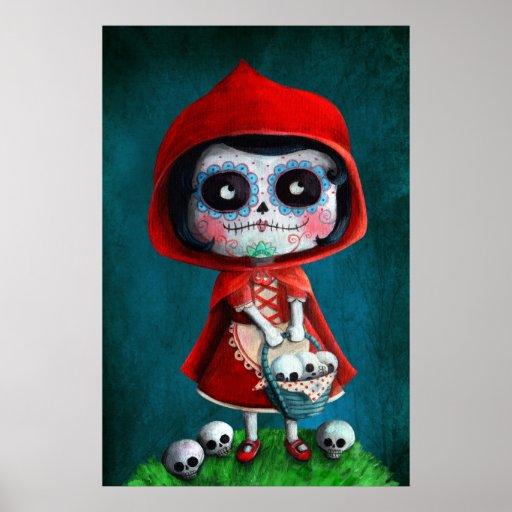 Dia de los Muertos Little Red Riding Hood