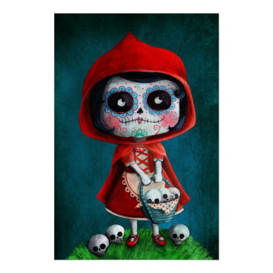Dia de los Muertos Little Red Riding Hood