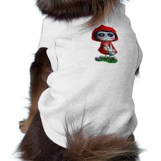 Dia de los Muertos Little Red Riding Hood Sleeveless Dog Shirt
