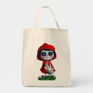 Dia de los Muertos Little Red Riding Hood Tote Bag