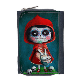Dia de los Muertos Little Red Riding Hood Wallet