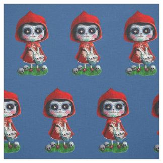 Dia de los Muertos Little Red Riding Hood Fabric