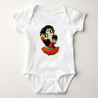 Dia de Los Muertos Lovely Mexican Catrina Girl Baby Bodysuit