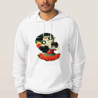 Dia de Los Muertos Lovely Mexican Catrina Girl Hoodie