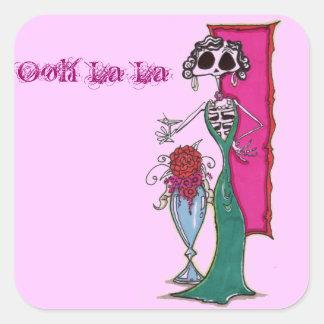 Dia De los muertos madam Square Sticker